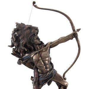 Hercules shooting arrow statue